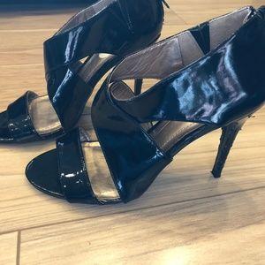 BCBGeneration Women's Shiny Black Heels Size 7